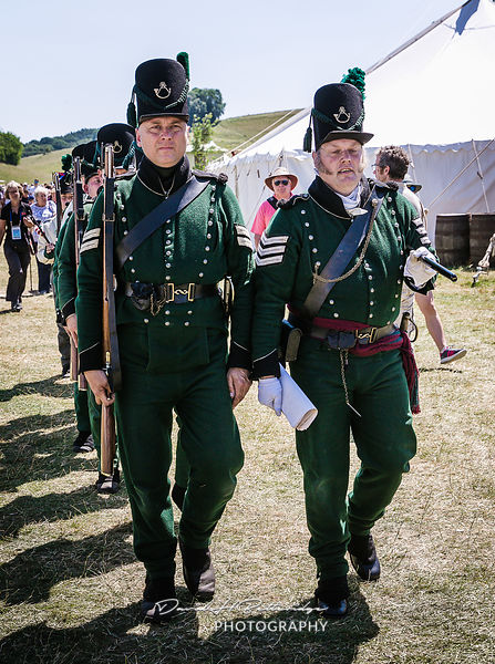 Napoleonic Wars Demonstations included re enactors dressed in uniforms of the British 95th Rifles.