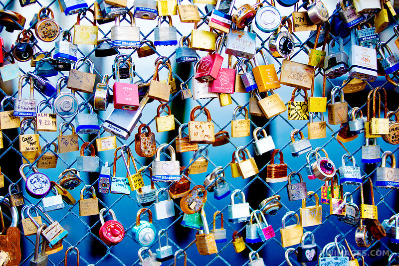 LOVE LOCK FENCE PORTLAND MAINE
