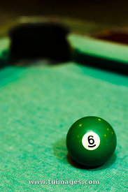 green billiard ball