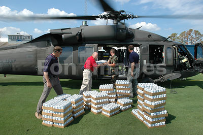 Water delivered to Ocean Springs, MS after Hurricane Katrina