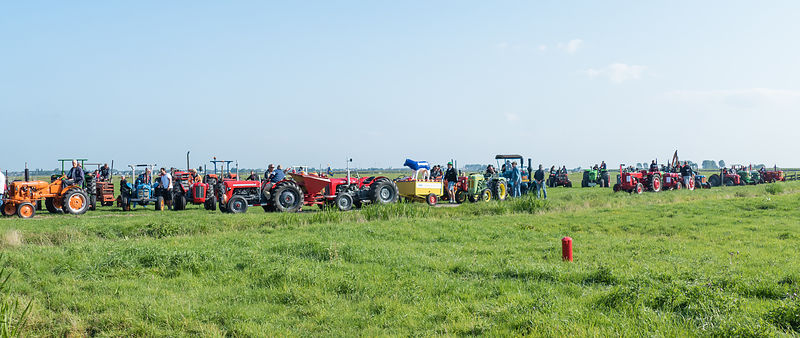 Katwoude, Netherlands - 2018-09-02:  Second Oltimer Tractor Tour photos