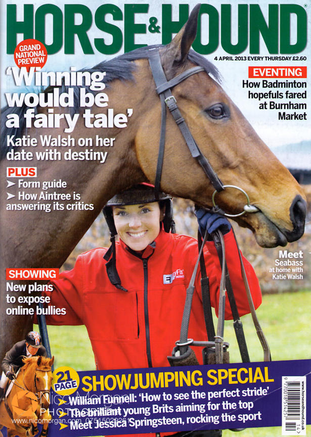 Katie Walsh and Seabass - Horse & Hound cover 4th April 2013