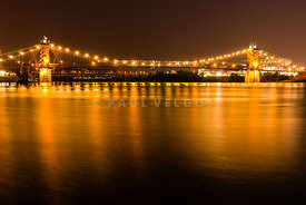 Cincinnati Roebling Bridge at Night