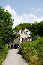 Cross Guns Pub, Avoncliff near Bradford on Avon, Wiltshire, England.