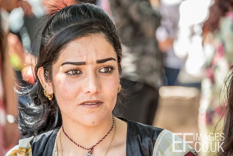 A Yezidi Woman At Red Wednesday, Or Yezidi New Year, Celebrations In Lalish, Iraq. 19th April 2017