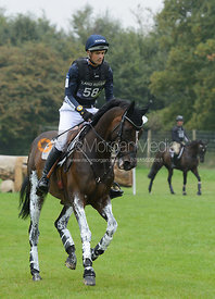 Jock Paget and CLIFTON PROMISE - cross country phase,  Land Rover Burghley Horse Trials, 6th September 2014.