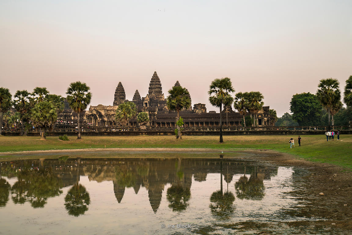 A view of the Angkor Wat, built by the Khmer King Suryavarman II in the early 12th century in Siem Reap, Cambodia. It was first a Hindu and later a Buddhist temple.
