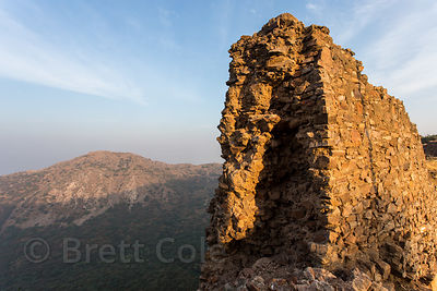 Old crumbling wall at Taragarh Fort, Ajmer, Rajasthan, India
