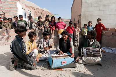 First rate family of musicians in a small village outside Jodhpur, Rajasthan, India