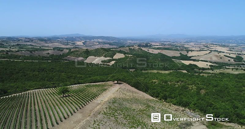 Tuscany Farmland and Vineyards Drone Video Italy