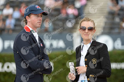 Ben MAHER ,(GBR), Marta ORTEGA PEREZ ,(ESP) during Queen's Cup - Segura Viudas Trophy competition at CSIO5* Barcelona at Real Club de Polo, Barcelona - Spain