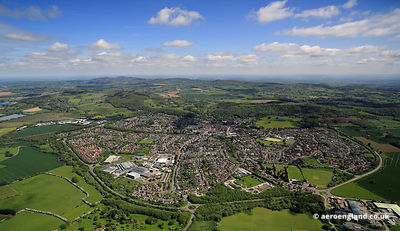 aerial photograph of Ledbury Herefordshire England UK