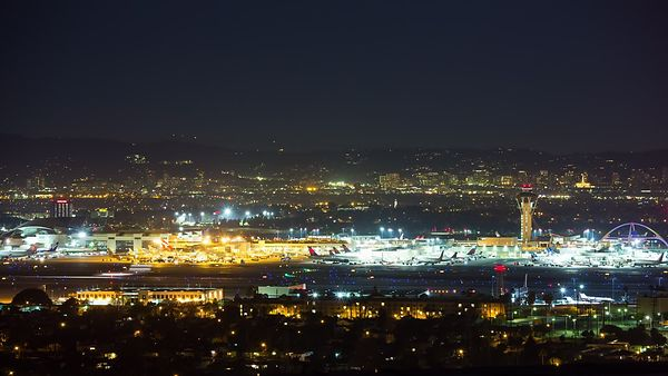 Close Up: Landings & Takeoffs, LAX Tarmac At Night