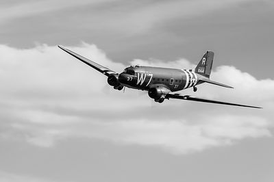 Douglas C-47 Skytrain Whiskey 7 black and white version