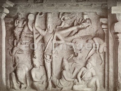 Vishnu Upholding the Universe at Mamallapuram