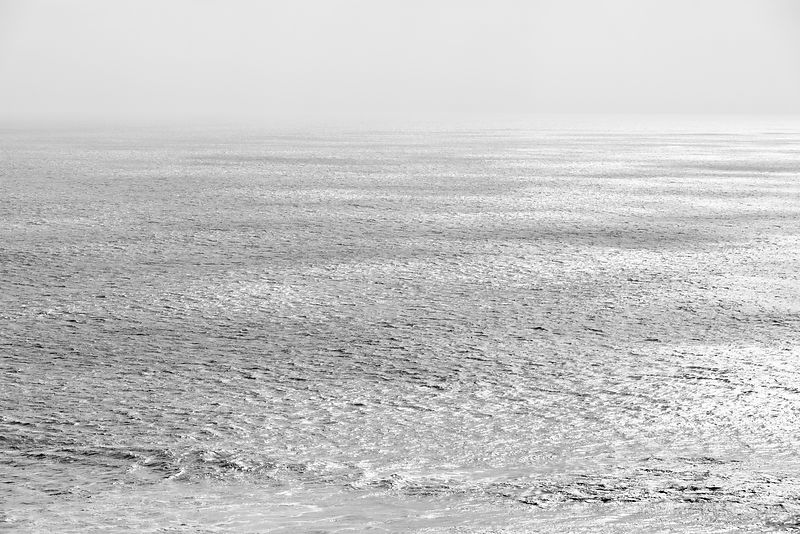 PACIFIC OCEAN POINT REYES NATIONAL SEASHORE CALIFORNIA BLACK AND WHITE