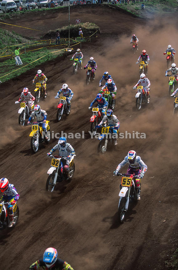Motocross race at Honda Safety & Riding Plaza Kyushu..Kumamoto, Japan