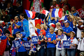 Fans during the EHF EURO Croatia 2018 - Preliminary round -  Group B - Austria vs France in Zatika Sports Centre, Porec, Croatia, 14.1.2018, Mandatory Credit © HRS / Anze Malovrh