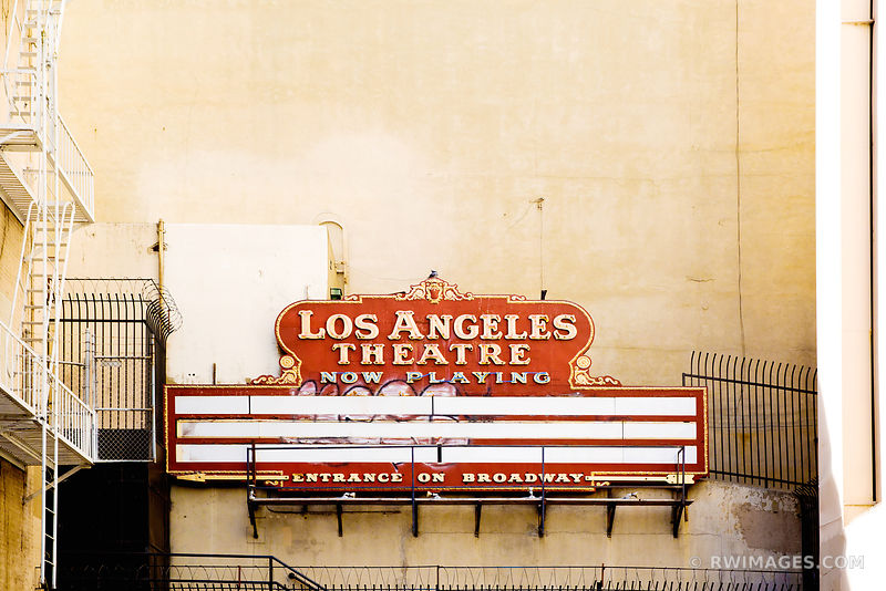 HISTORIC LOS ANGELES THEATRE LOS ANGELES CALIFORNIA COLOR