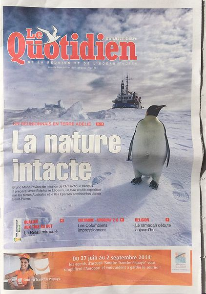 """Le Quotidien"" newspaper - June 2014"