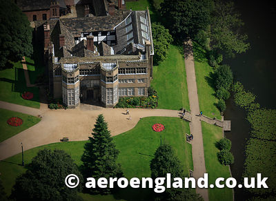 aerial photograph of Astley Hall chorley  Lancashire England