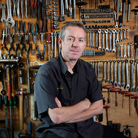 Willy Bain at his bicycle repair shop, 359 Pollokshaws Road, Glasgow G41 1QT..May 2012.Tel: 0141 423 9010.Email: willybain@bicyclerepair.co.uk..Willy has recently been selected by Shimano to work as an accredited neutral mechanic during this year's Olympic Games in London...Picture Copyright:.Iain McLean,.79 Earlspark Avenue,.Glasgow.G43 2HE.07901 604 365.photomclean@googlemail.com.www.iainmclean.com.All Rights Reserved.No Syndication
