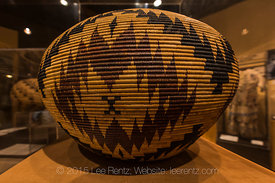 Basket Created by Carrie Bethel on Display in the Yosemite Museum