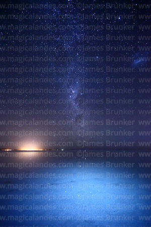 Milky Way and Large Magellanic Cloud, Salar de Uyuni, Bolivia