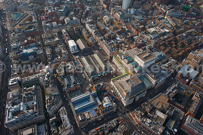 Aerial view of Covent Garden aerial view, London