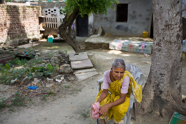 India - Vrindavan - Hari Das, a widow abandoned by her family