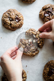 Oatmeal chocolate chip cookies.
