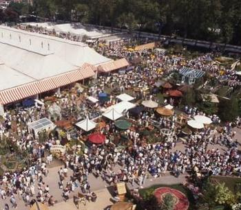 RHS Chelsea Flower Show aerial shot