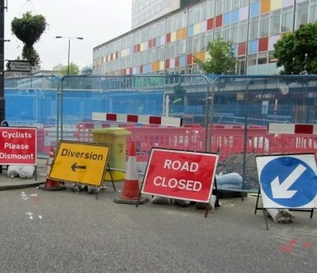 Notting Hill Gate roadworks