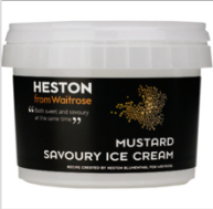 Heston Blumenthal's mustard ice cream