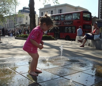 Duke of York Square Chelsea toddler baby