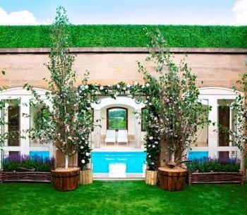 Green Spring secret roof top garden Berkeley hotel London