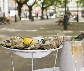 Botanist pop up oyster bar Sloane Square Chelsea
