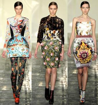 Print pattern fashion dress