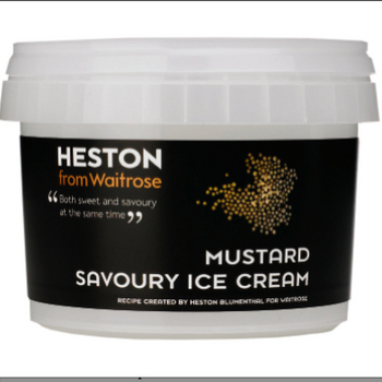 Heston Blumenthal's savoury mustard ice cream