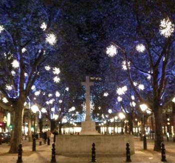 Sloane Square Christmas lights Chelsea