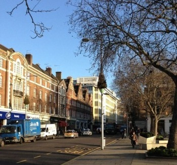 Kings Road London winter