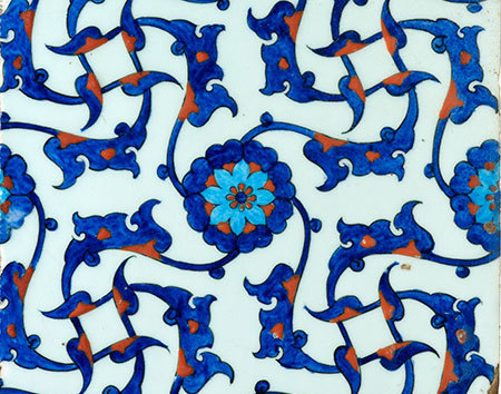 New galleries islamic art tile from mosque rustam pasha 480