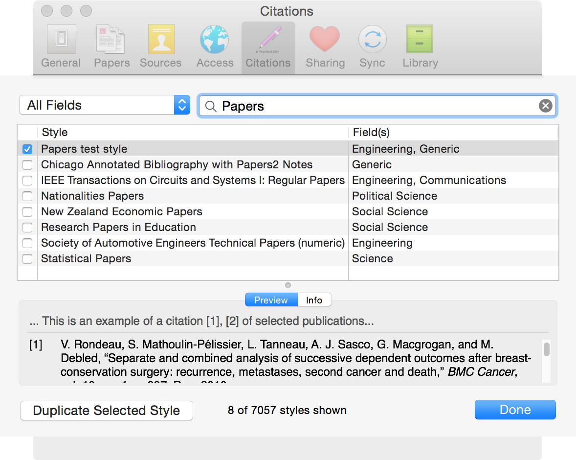 adding additional citation styles on papers for mac cite the output will be updated each time you select the window again and switch back and forth between your text editor and papers
