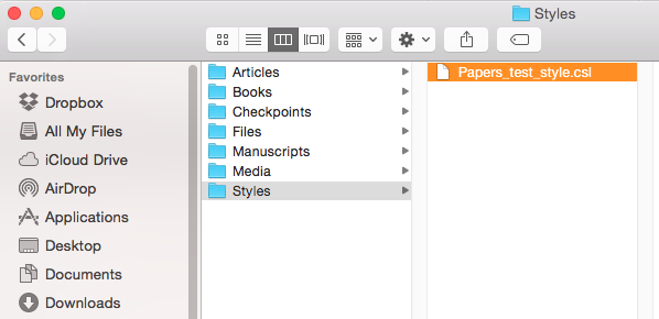 Helpdesk Adding Additional Citation Styles On Papers  For Mac