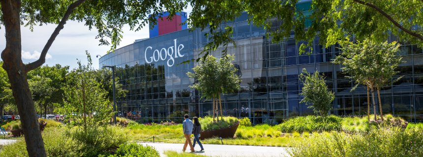 12 May 2015, Mountain View, California, USA --- The Googleplex is the corporate headquarters complex of Google, Inc., located in Mountain View, California. --- Image by © Brooks Kraft/Corbis
