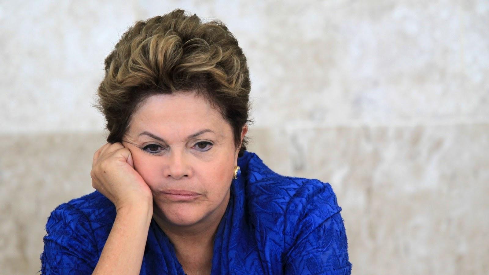 Dilma abatida