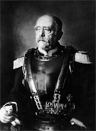 """ca. 1894 --- Original caption: 1894-Otto Von Bismark (1818-1898) in the uniform of the regiment of Cuirassier named afetr him """"Bismark-Cuirassiers"""". --- Image by © Bettmann/CORBIS"""