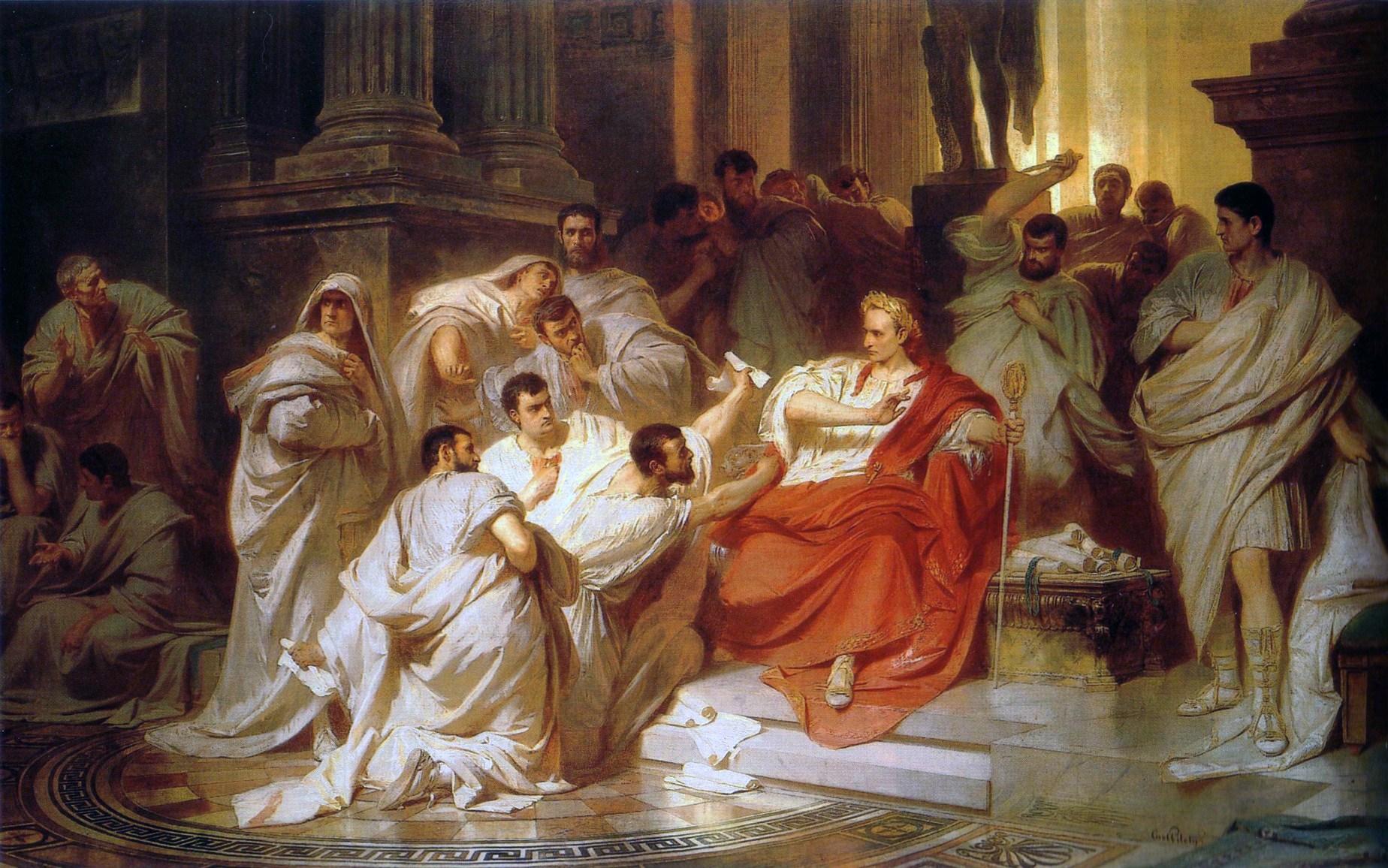 conflitto-politico-karl_theodor_von_piloty_murder_of_caesar_1865