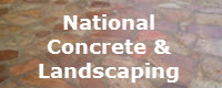 Website for National Concrete & Landscaping Company
