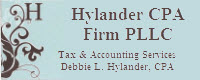 Website for Hylander CPA Firm, PLLC